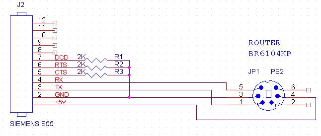 Схема кабеля для подключения